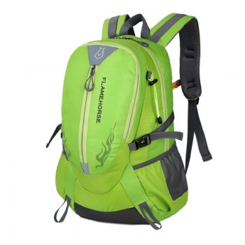 FLAMEHORSE Waterproof Backpack  Lovers Outdoor Mountaineer Bag 40L -  GREEN