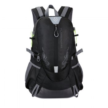 FLAMEHORSE Waterproof Backpack  Lovers Outdoor Mountaineer Bag 40L - BLACK BLACK