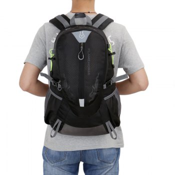 FLAMEHORSE Waterproof Backpack  Lovers Outdoor Mountaineer Bag 40L -  BLACK
