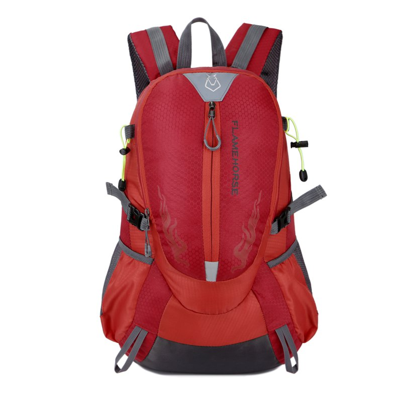 FLAMEHORSE Waterproof Backpack  Lovers Outdoor Mountaineer Bag 40L - RED