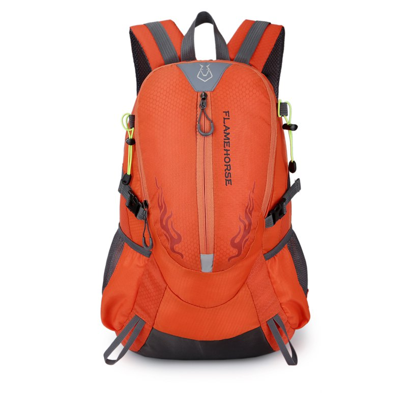 FLAMEHORSE Waterproof Backpack  Lovers Outdoor Mountaineer Bag 40L - ORANGE