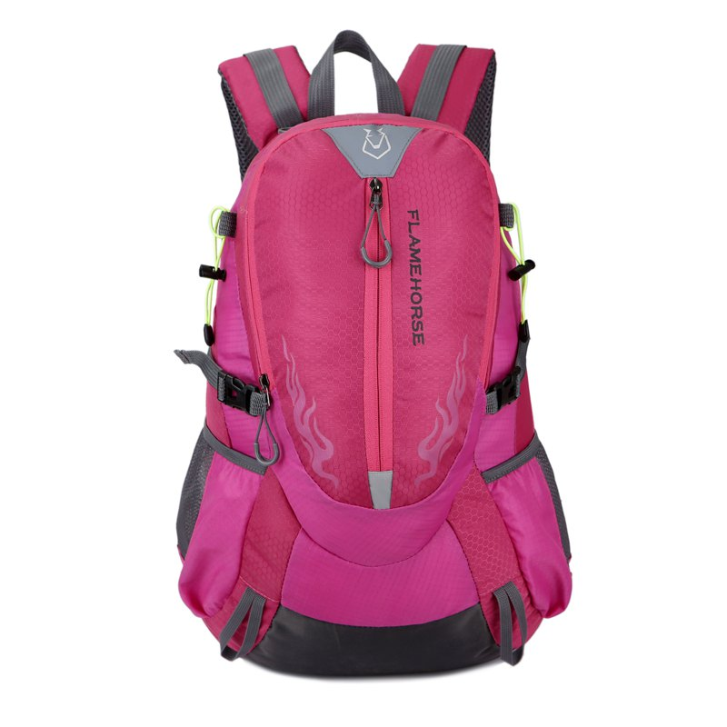 FLAMEHORSE Waterproof Backpack  Lovers Outdoor Mountaineer Bag 40L - ROSE RED