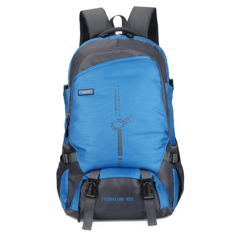 FLAMEHORSE Outdoor  Mountaineer Bag 45L Large Capacity Backpack - BLUE