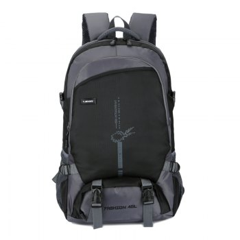 FLAMEHORSE Outdoor  Mountaineer Bag 45L Large Capacity Backpack - BLACK BLACK