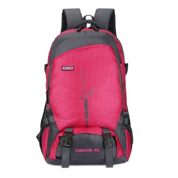 FLAMEHORSE Outdoor  Mountaineer Bag 45L Large Capacity Backpack - ROSE RED ROSE RED