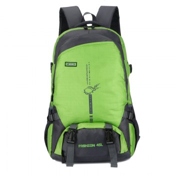 FLAMEHORSE Outdoor  Mountaineer Bag 45L Large Capacity Backpack - GREEN GREEN