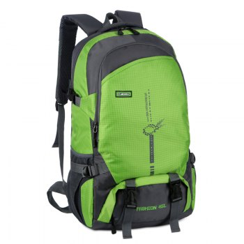 FLAMEHORSE Outdoor  Mountaineer Bag 45L Large Capacity Backpack - GREEN