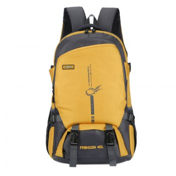 FLAMEHORSE Outdoor  Mountaineer Bag 45L Large Capacity Backpack - YELLOW YELLOW