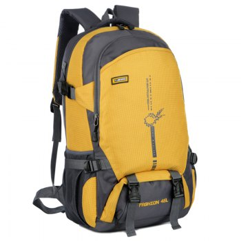 FLAMEHORSE Outdoor  Mountaineer Bag 45L Large Capacity Backpack -  YELLOW