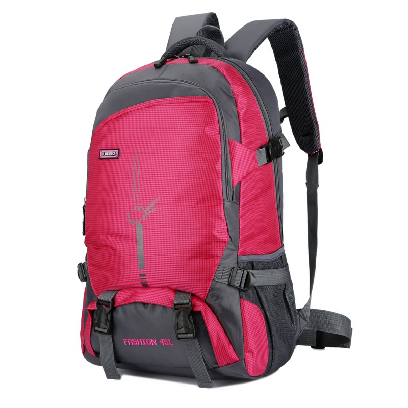 FLAMEHORSE Outdoor  Mountaineer Bag 45L Large Capacity Backpack - ROSE RED