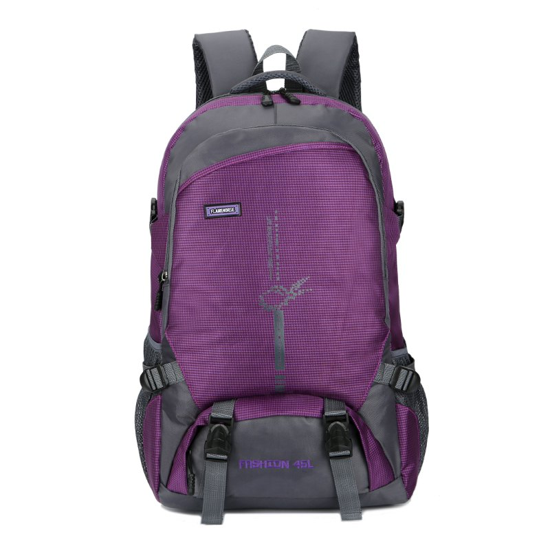 FLAMEHORSE Outdoor  Mountaineer Bag 45L Large Capacity Backpack - PURPLE
