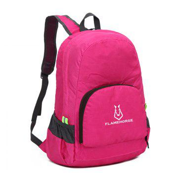 FLAMEHORSE Outdoor Nylon Waterproof Ultra Light Skin Foldable Bag -  ROSE RED