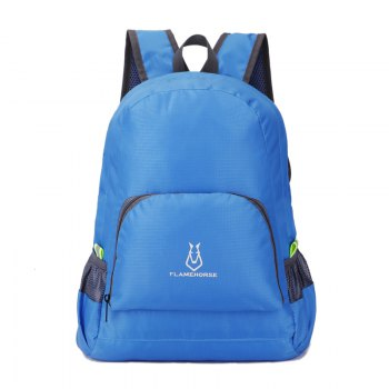 FLAMEHORSE Outdoor Nylon Waterproof Ultra Light Skin Foldable Bag - BLUE BLUE