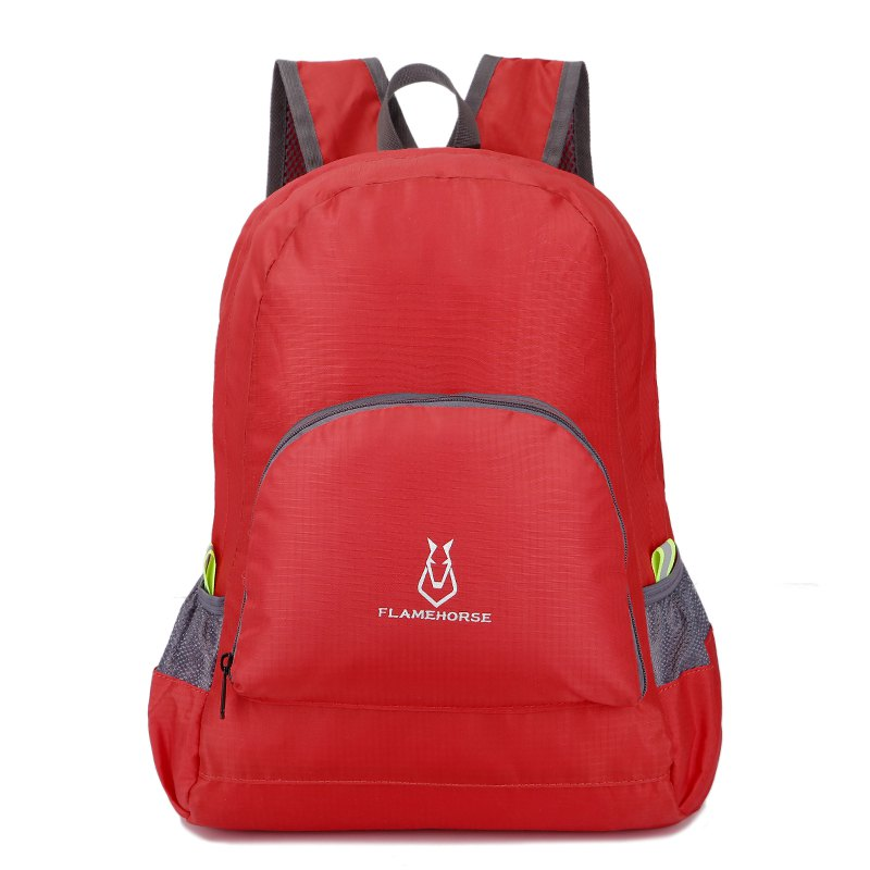 FLAMEHORSE Outdoor Nylon Waterproof Ultra Light Skin Foldable Bag - RED