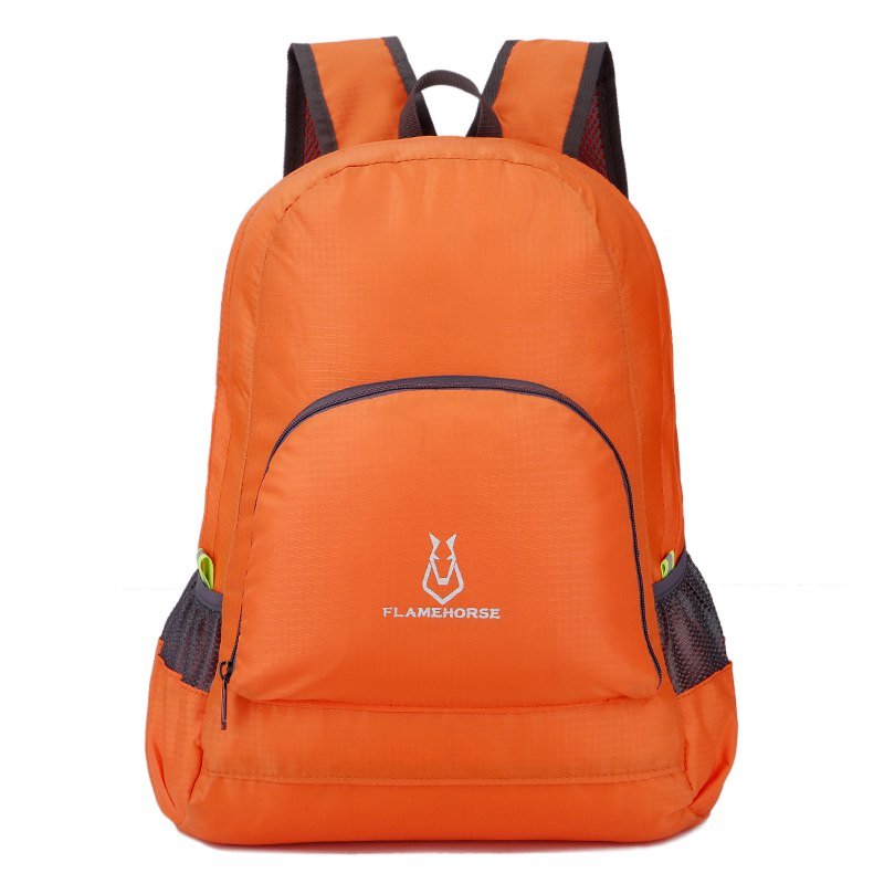 FLAMEHORSE Outdoor Nylon Waterproof Ultra Light Skin Foldable Bag - ORANGE