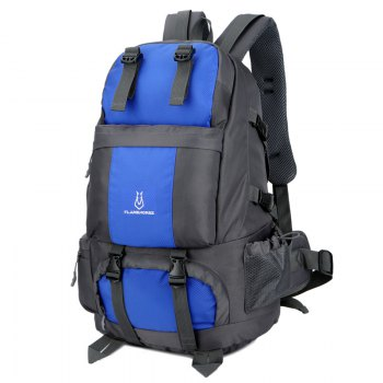 FLAMEHORSE Outdoor Mountaineer Bag 50L Large Capacity Nylon Waterproof Travel Backpack - BLUE