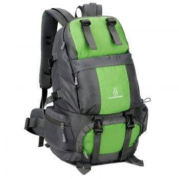 FLAMEHORSE Outdoor Mountaineer Bag 50L Large Capacity Nylon Waterproof Travel Backpack - GREEN