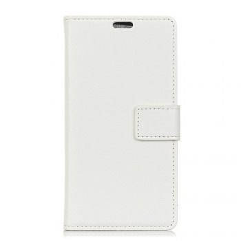 One Hundred Lines Wallet Stand Leather Phone Case For SONY L1 - WHITE WHITE