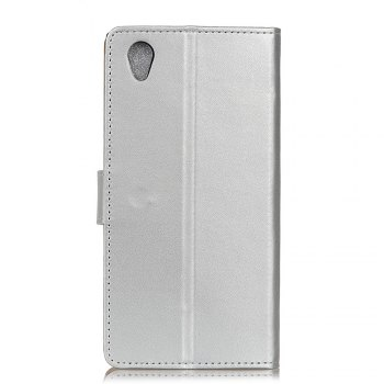 One Hundred Lines Wallet Stand Leather Phone Case For SONY L1 -  SILVER