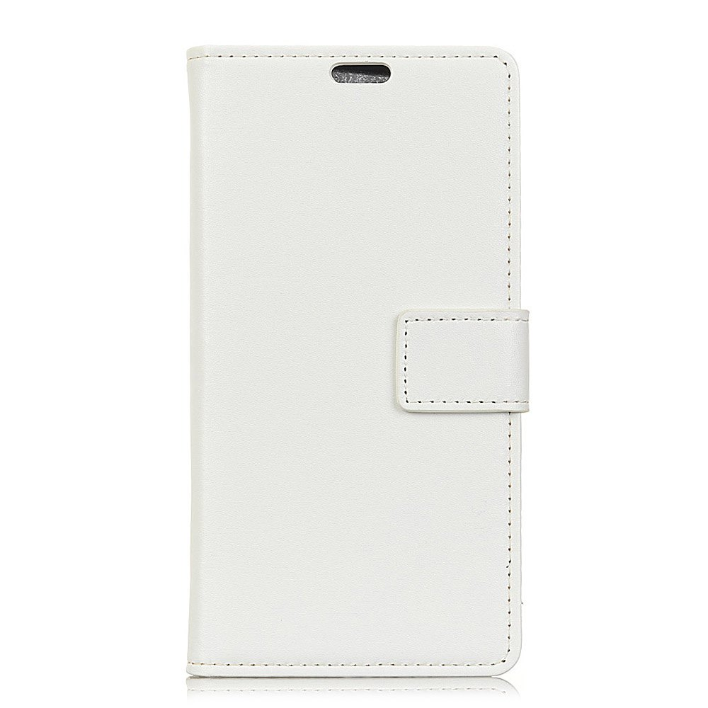 One Hundred Lines Wallet Stand Leather Phone Case For SONY L1 - WHITE