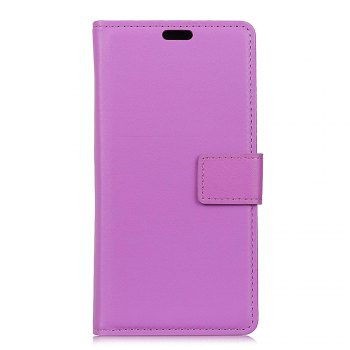 One Hundred Lines Wallet Stand Leather Phone Case For SONY XA1 - PURPLE PURPLE