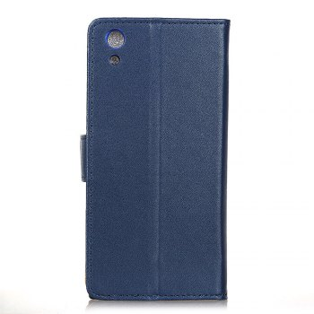 One Hundred Lines Wallet Stand Leather Phone Case For SONY XA1 -  BLUE
