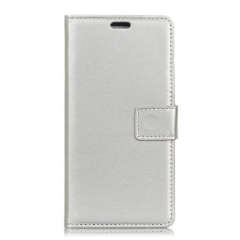 One Hundred Lines Wallet Stand Leather Phone Case For ASUS ZC554KL - SILVER SILVER