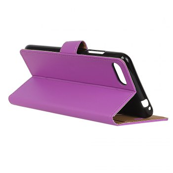 One Hundred Lines Wallet Stand Leather Phone Case For ASUS ZC554KL - PURPLE