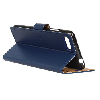 One Hundred Lines Wallet Stand Leather Phone Case For ASUS ZC554KL -  BLUE