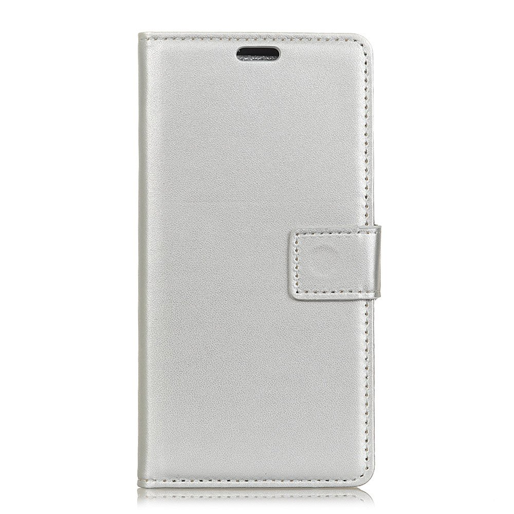 One Hundred Lines Wallet Stand Leather Phone Case For ASUS ZC554KL - SILVER