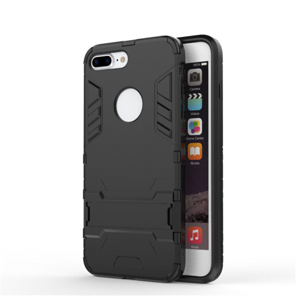 Case for iPhone 7 Plus Shockproof Tank Armour Hybrid Stents Shield - BLACK