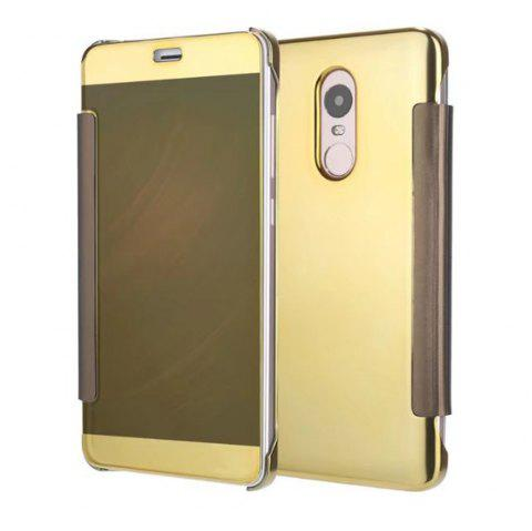 Luxury Mirror PU Leather Smart Flip hard Protective back cover Case for Xiaomi Red Rice 4X - GOLDEN