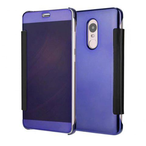 Luxury Mirror PU Leather Smart Flip hard Protective back cover Case for Xiaomi Red Rice 4X - CERULEAN