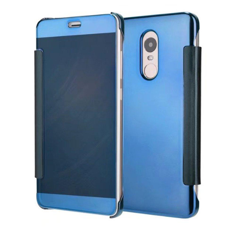 Luxury Mirror PU Leather Smart Flip hard Protective back cover Case for Xiaomi Red Rice 4X - WINDSOR BLUE