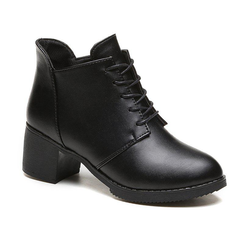 Autumn and Winter New European and American  High Heel Female Boots
