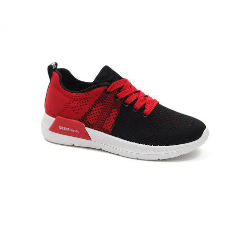 Autumn New Running Shoes Breathable Comfort Sneaker - RED 40