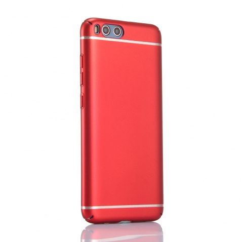 Pure Color Hardware Electroplating Mobile Phone Shell Case for Mi 6 - RED