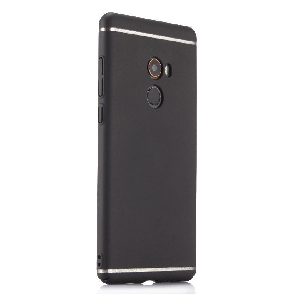 Fashionable Pure Color Electroplating Mobile Phone Shell Case for Mi Mix 2 - BLACK
