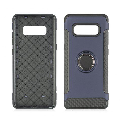 360 Degree Rotation TPU PC Carbon Fiber Support Ring  Mobile Phone Protection Shell Case for Samsung Galaxy Note 8 - ROYAL