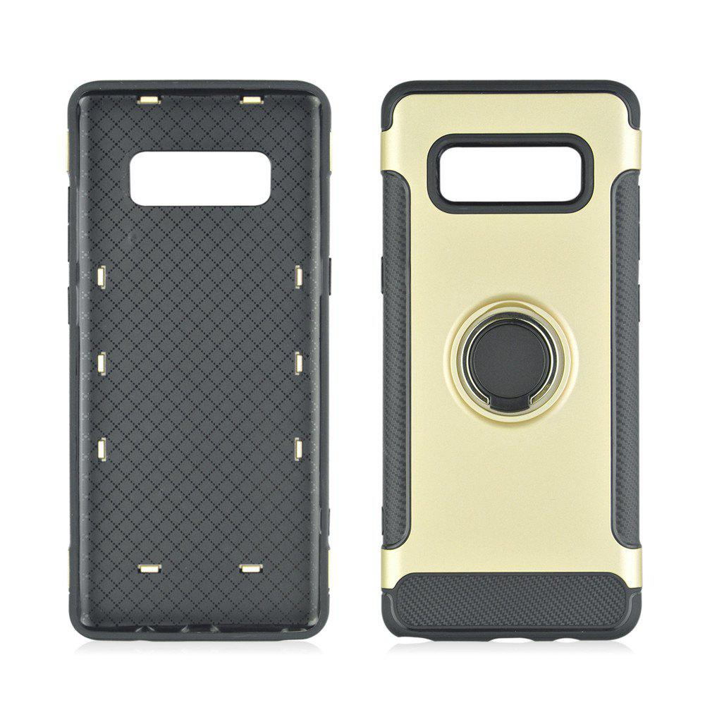 360 Degree Rotation TPU PC Carbon Fiber Support Ring  Mobile Phone Protection Shell Case for Samsung Galaxy Note 8 - CITRUS
