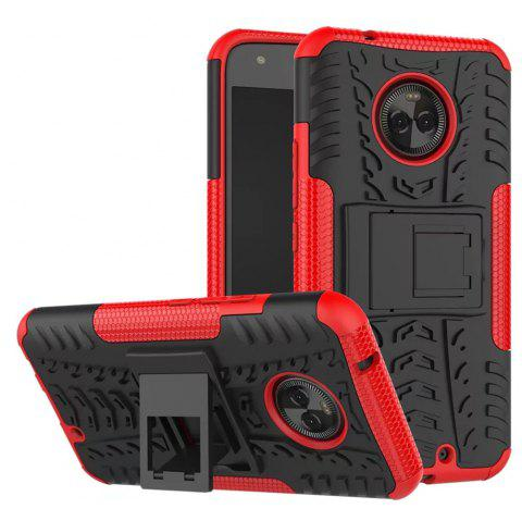 Case For MOTOROLA X4 With Stand Back Cover Armor Hard PC - RED