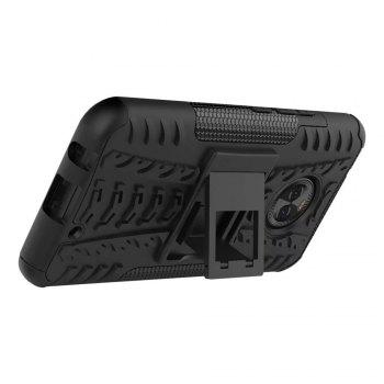 Case For MOTOROLA X4 With Stand Back Cover Armor Hard PC -  GREEN