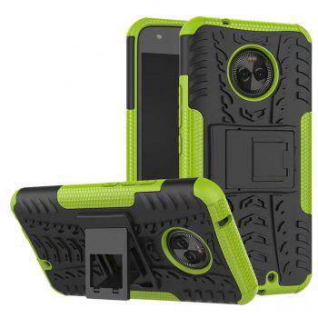 Case For MOTOROLA X4 With Stand Back Cover Armor Hard PC - GREEN GREEN