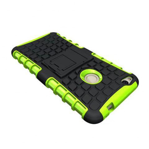 Rugged Spider Armor Heavy Duty Hybrid TPU Silicone Stand Impact Cover for Huawei P8 Lite 2017 Case - GREEN