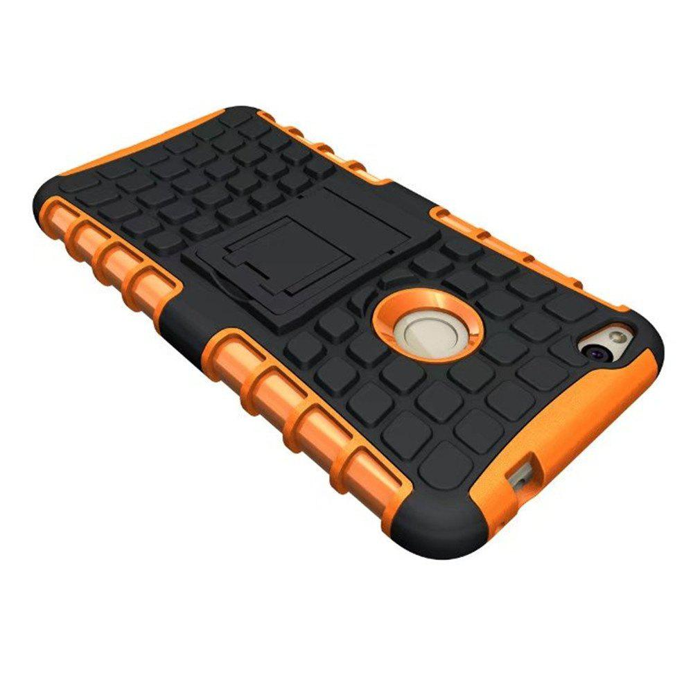 Rugged Spider Armor Heavy Duty Hybrid TPU Silicone Stand Impact Cover for Huawei P8 Lite 2017 Case - ORANGE