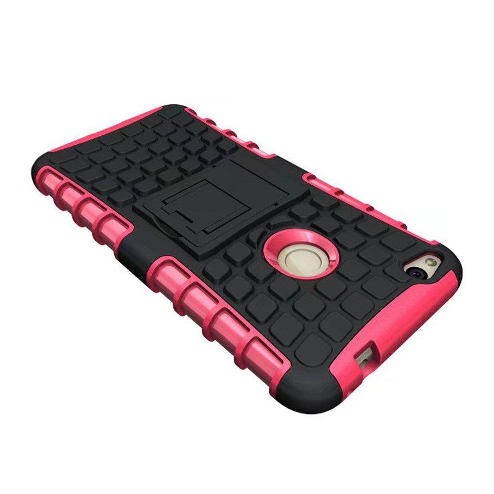 Rugged Spider Armor Heavy Duty Hybrid TPU Silicone Stand Impact Cover for Huawei P8 Lite 2017 Case - ROSE RED