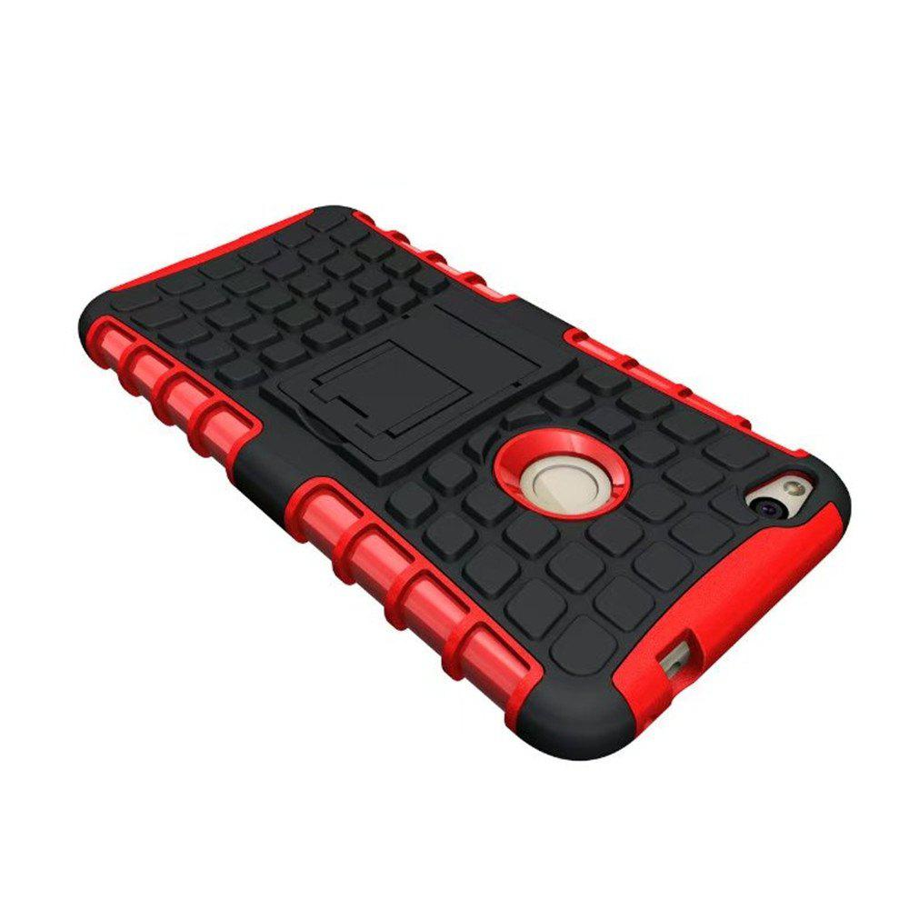 Rugged Spider Armor Heavy Duty Hybrid TPU Silicone Stand Impact Cover for Huawei P8 Lite 2017 Case - RED