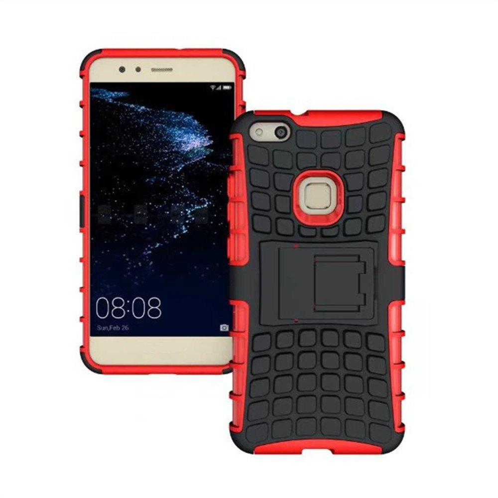 Rugged Spider Armor Heavy Duty Hybrid TPU Silicone Stand Impact Cover for Huawei P10 Lite Case - RED