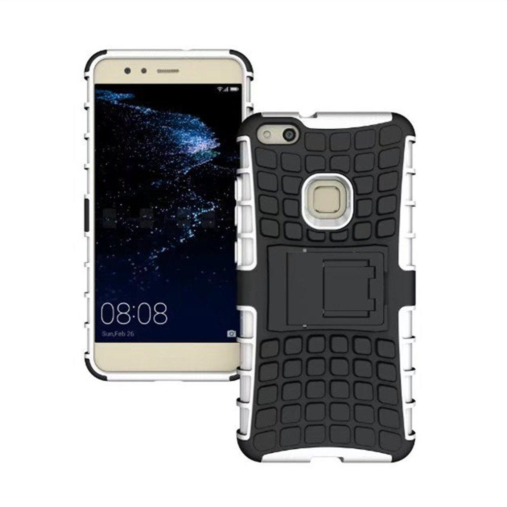 Rugged Spider Armor Heavy Duty Hybrid TPU Silicone Stand Impact Cover for Huawei P10 Lite Case - WHITE