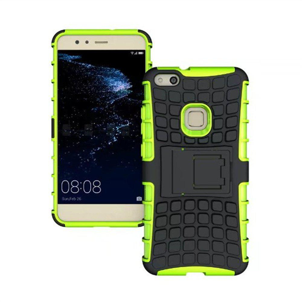 Rugged Spider Armor Heavy Duty Hybrid TPU Silicone Stand Impact Cover for Huawei P10 Lite Case - GREEN